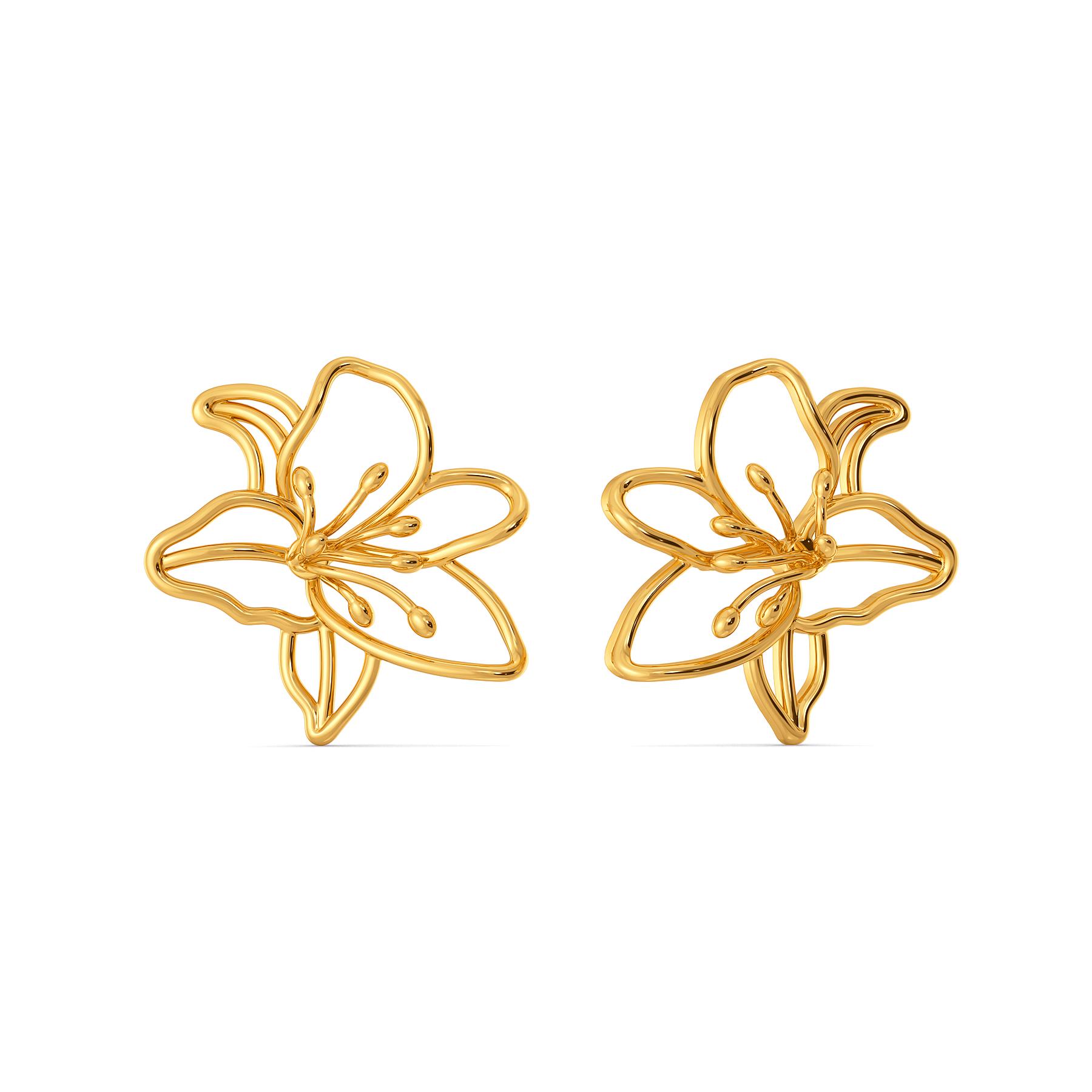 Lily Wonderland Gold Earrings