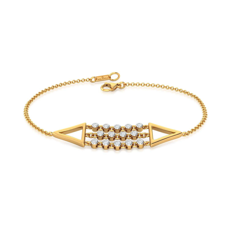 Dangle Triangle Diamond Bracelets