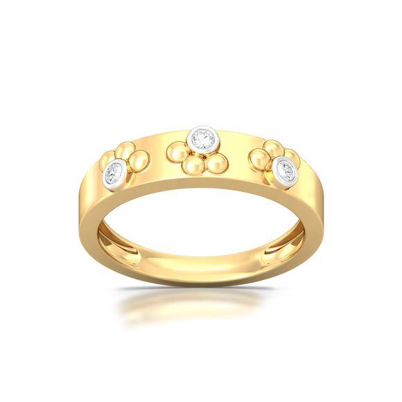 Eclectic polygon Diamond Rings