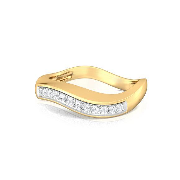 Flowy Waves Diamond Rings