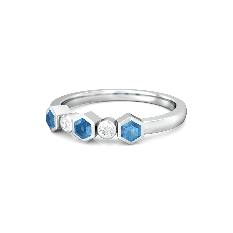Belle in Blue Diamond Rings