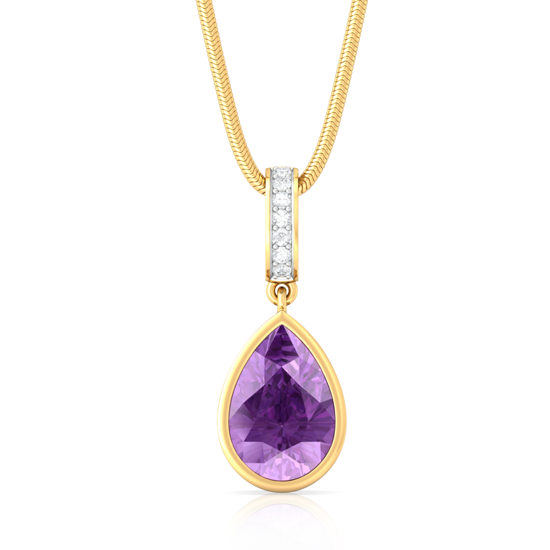 Plum Divine Diamond Pendants
