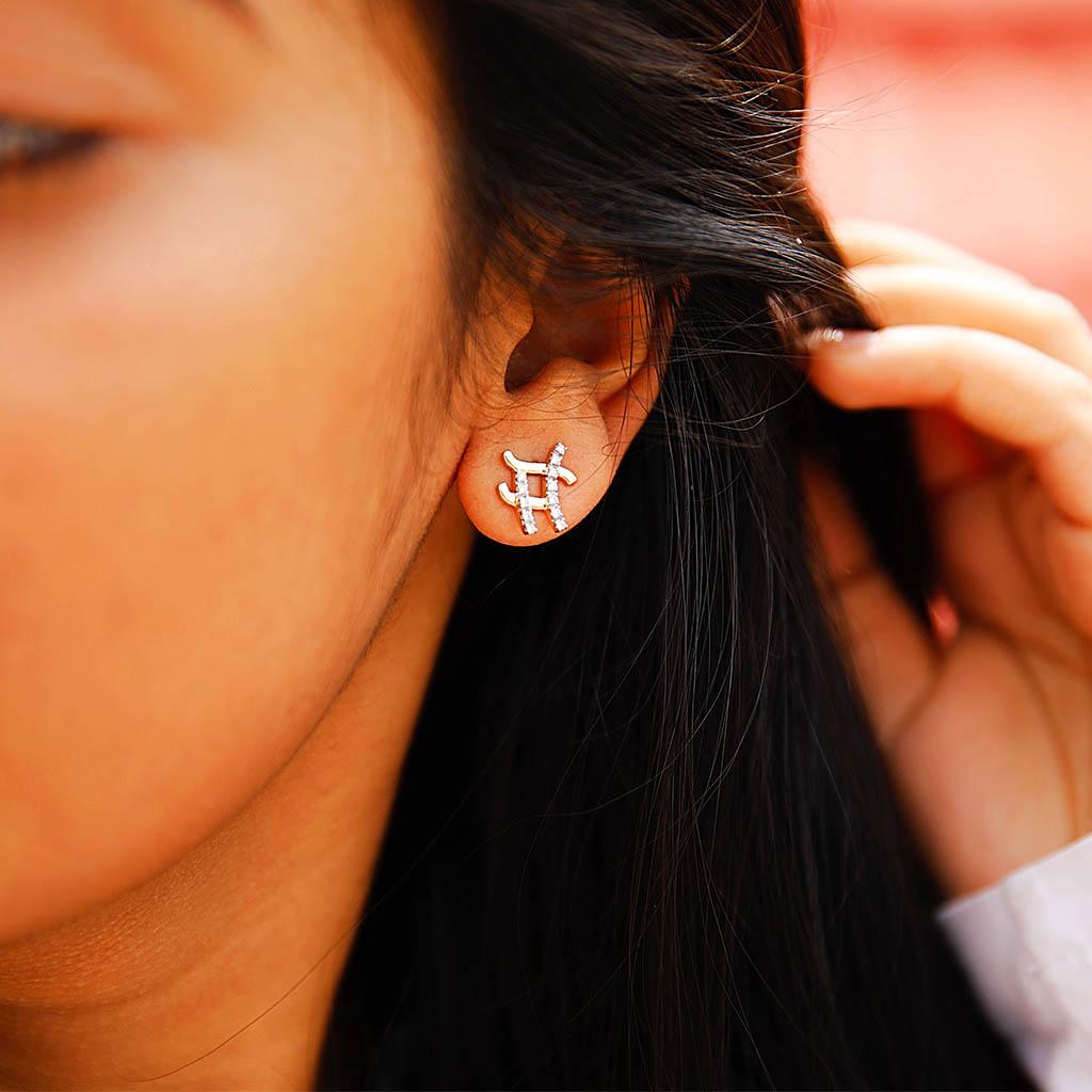 Crosscheck Diamond Earrings