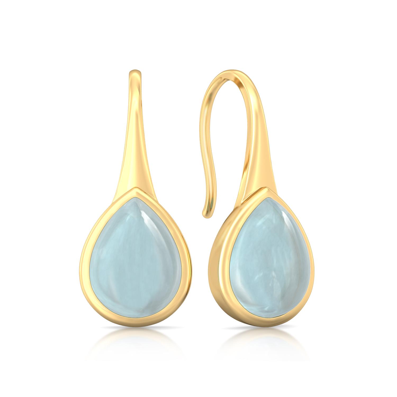 Freshwater Blue Gemstone Earrings
