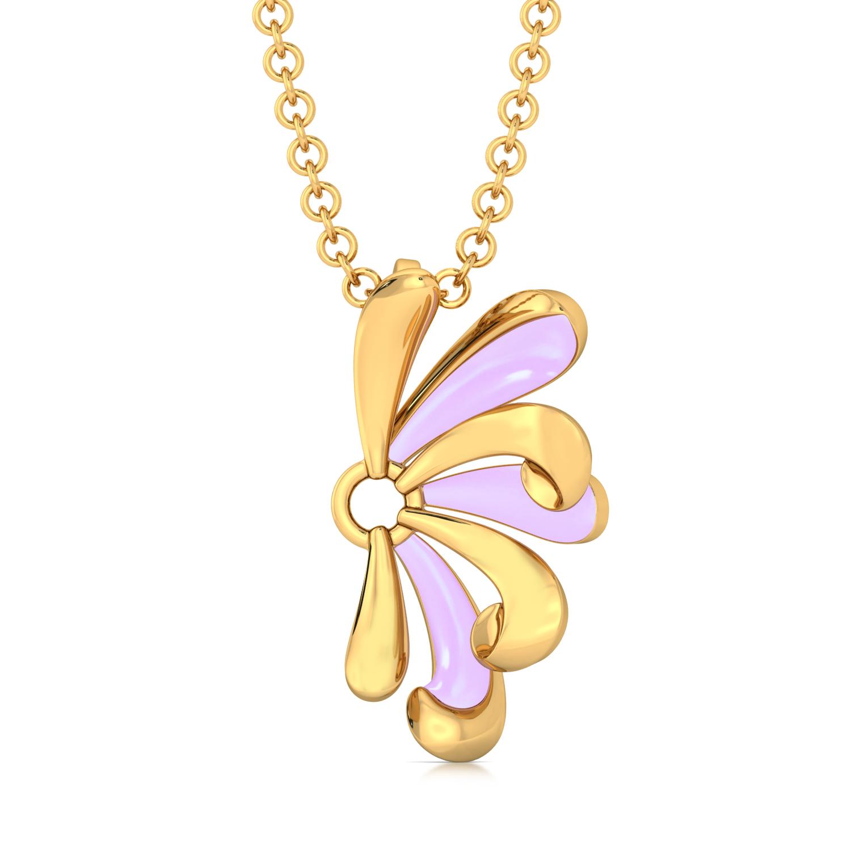 Purple Curl Gold Pendants