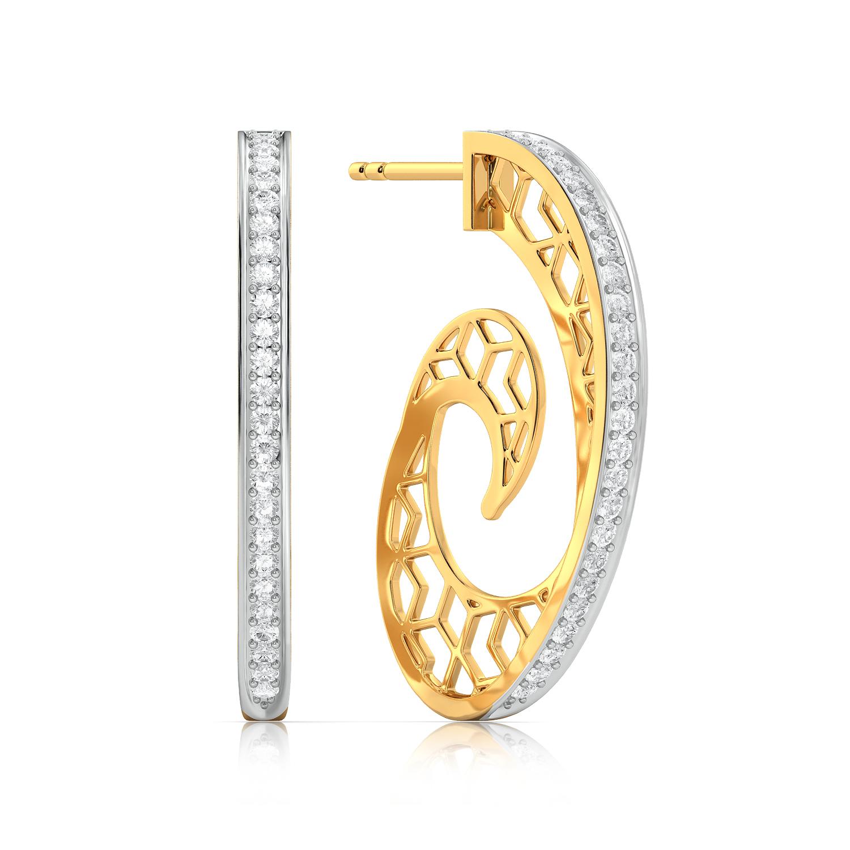 Net Twirl Diamond Earrings
