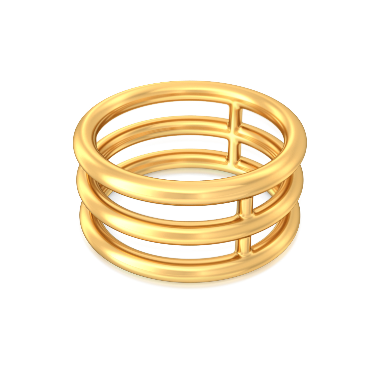 Tube Play Gold Rings