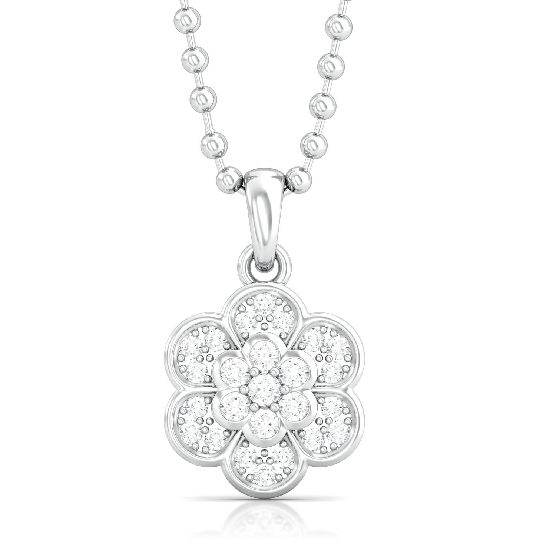 Star Blossom Diamond Pendants