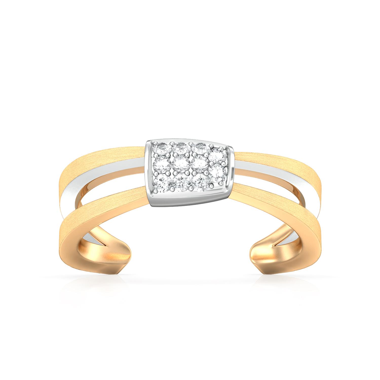 Brilliant Crimp Diamond Rings