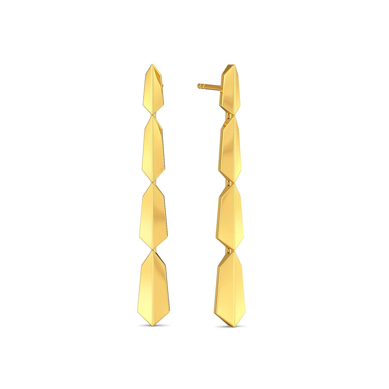Groovy Folds Gold Earrings