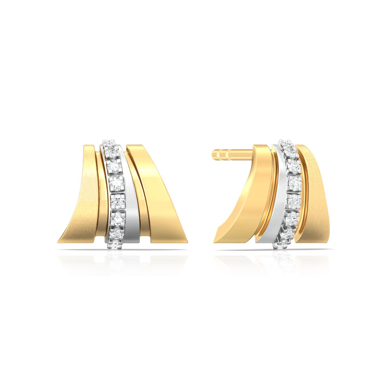 Pleat Play Diamond Earrings