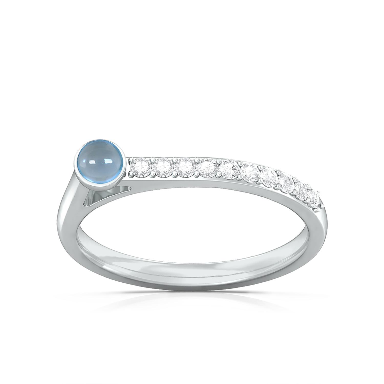 Arctic blue Diamond Rings