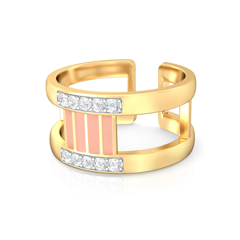 Micro-Striped Diamond Rings