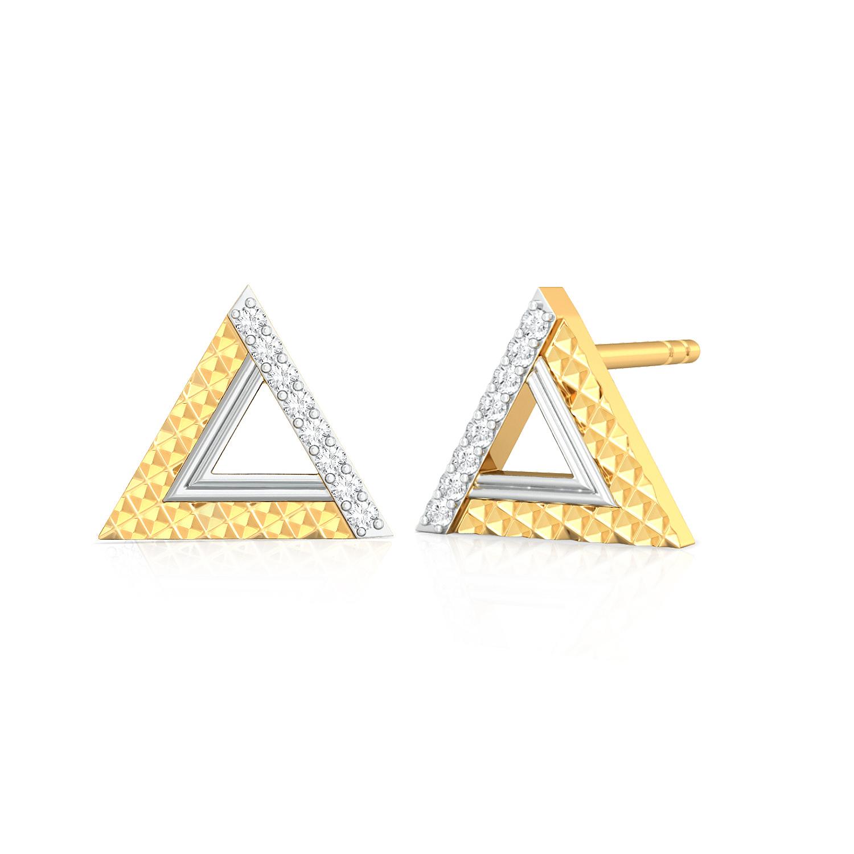 Pyramid Play Diamond Earrings