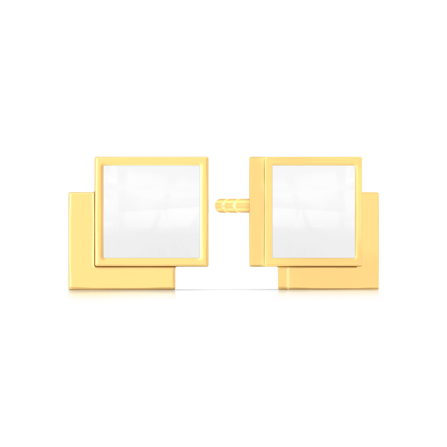 The Unbox Code Gold Earrings