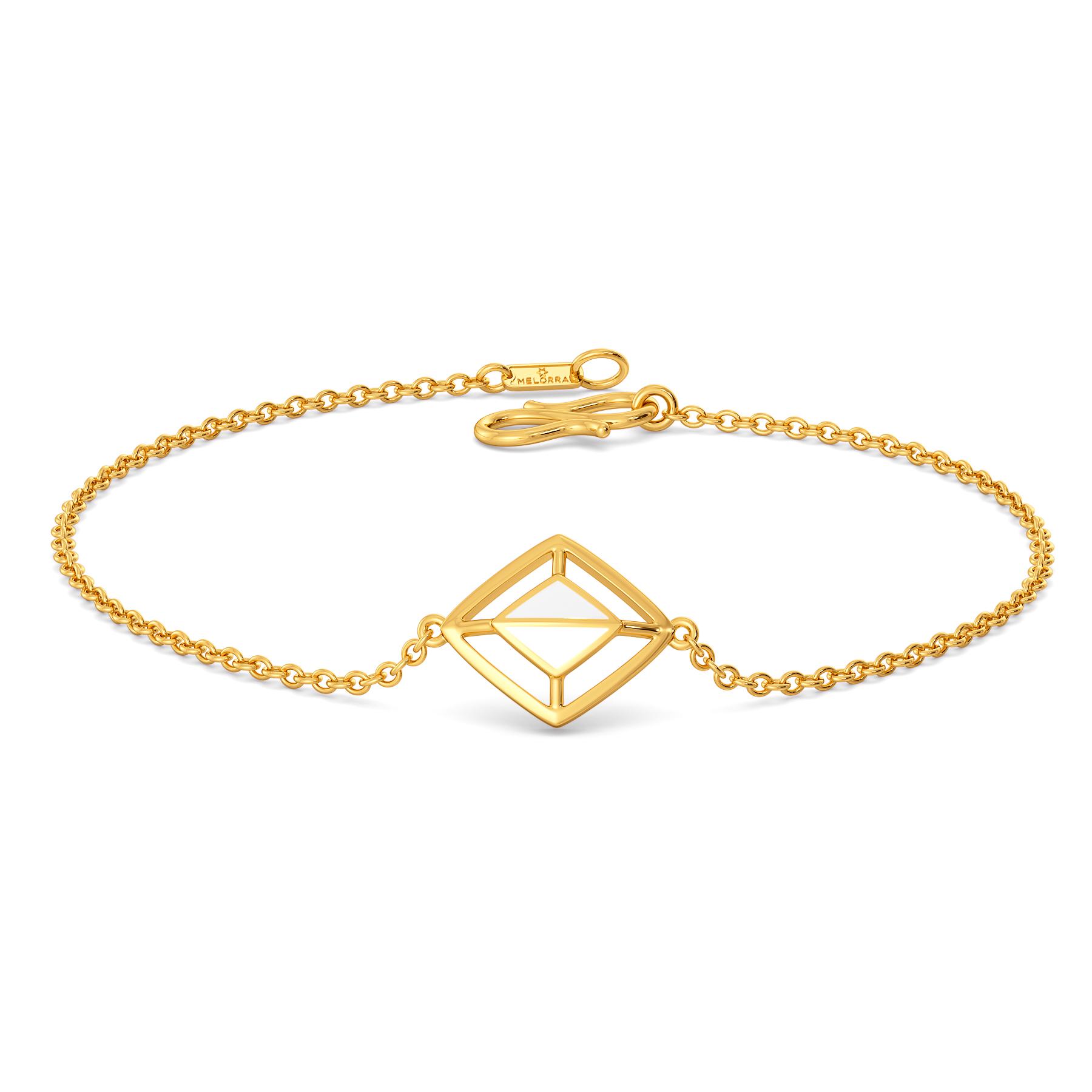 White Swan Gold Bracelets